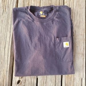 Carhartt Blue 2XL Long Sleeve Shirt